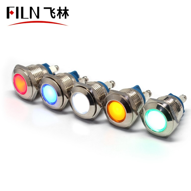 16mm led Screw feet 24v metal indicator light