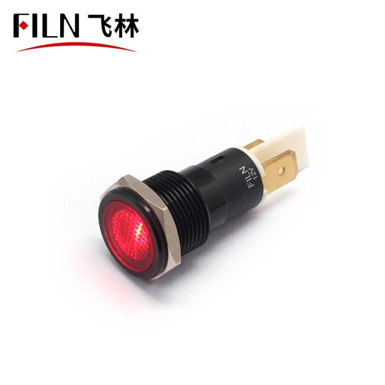 16MM 220V FALT head IP67 metal indicator light
