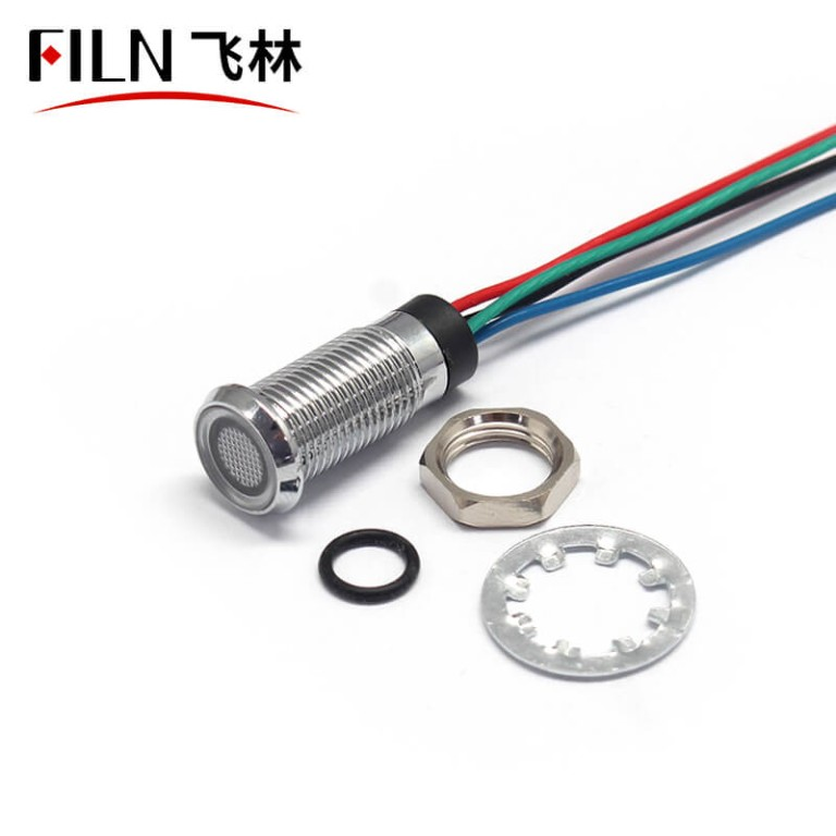 8mm Three COLOR RED GREEN BLUE A total of Yin 12v indciator light