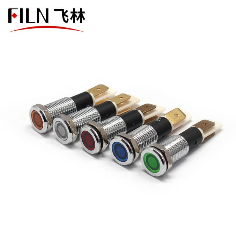 6V 10MM blue led flat head filn metal grill fryer indicator light