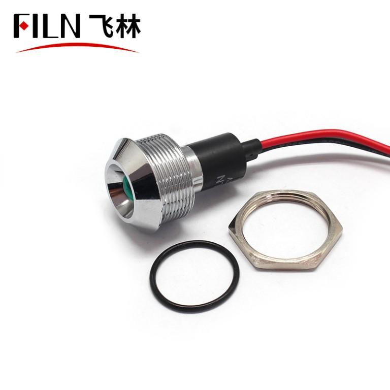 22mm 12V White Copper High Pressure Indicator light