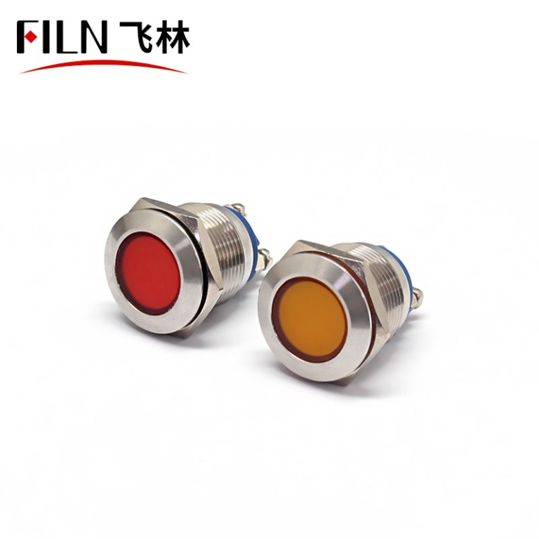 19mm 110v LED Metal Signal Indicator Light