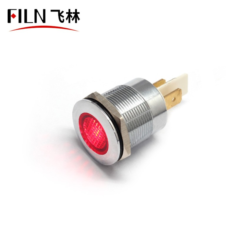 22mm 12V Metal Pilot Custom Indicator Lights