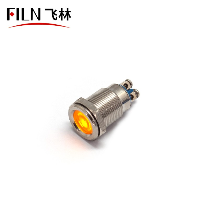 12MM 24V metal Medical equipment red metal indicator light
