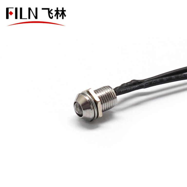 8mm Cheap and Good Quality 120V Panel Mount Indicator Light