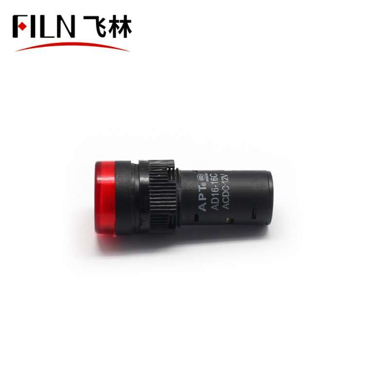 16mm 12V Red Control Panel Indicator Lights