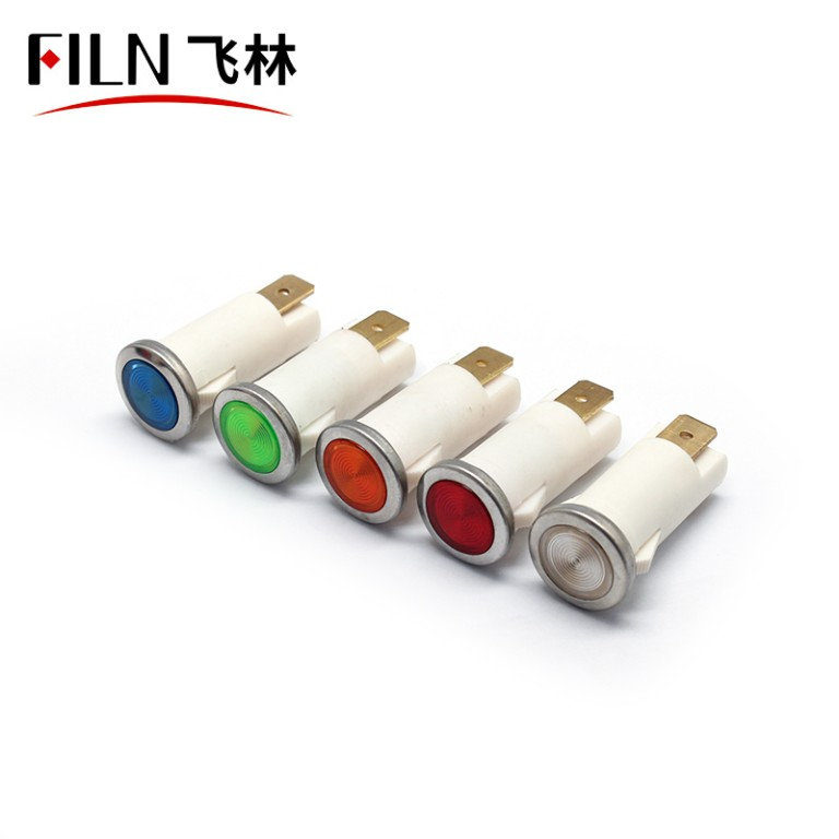12.5mm 380v red Medical equipment plastic indicator light