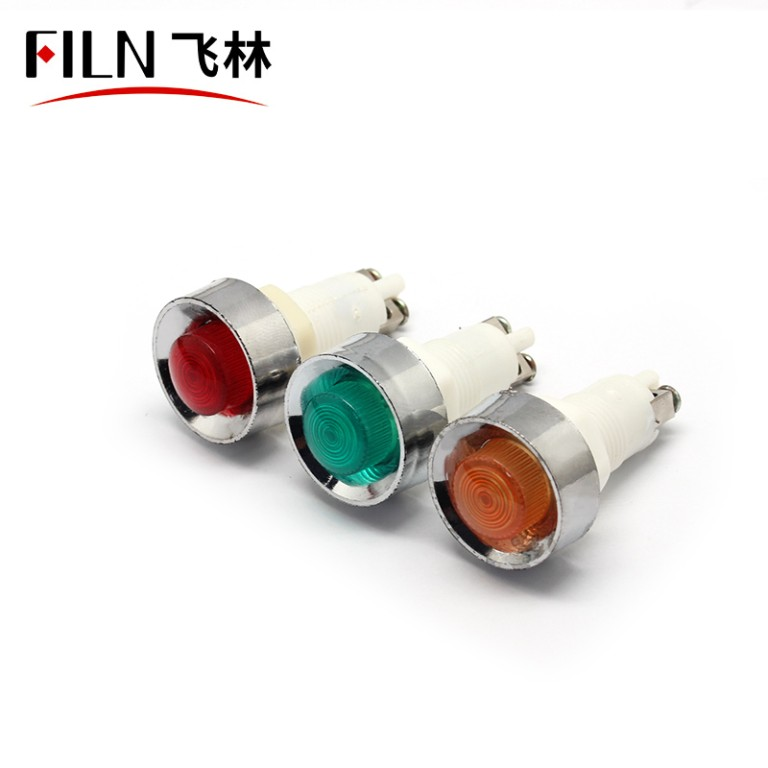 12.5mm 220v  Screw feet  plastic indicator light