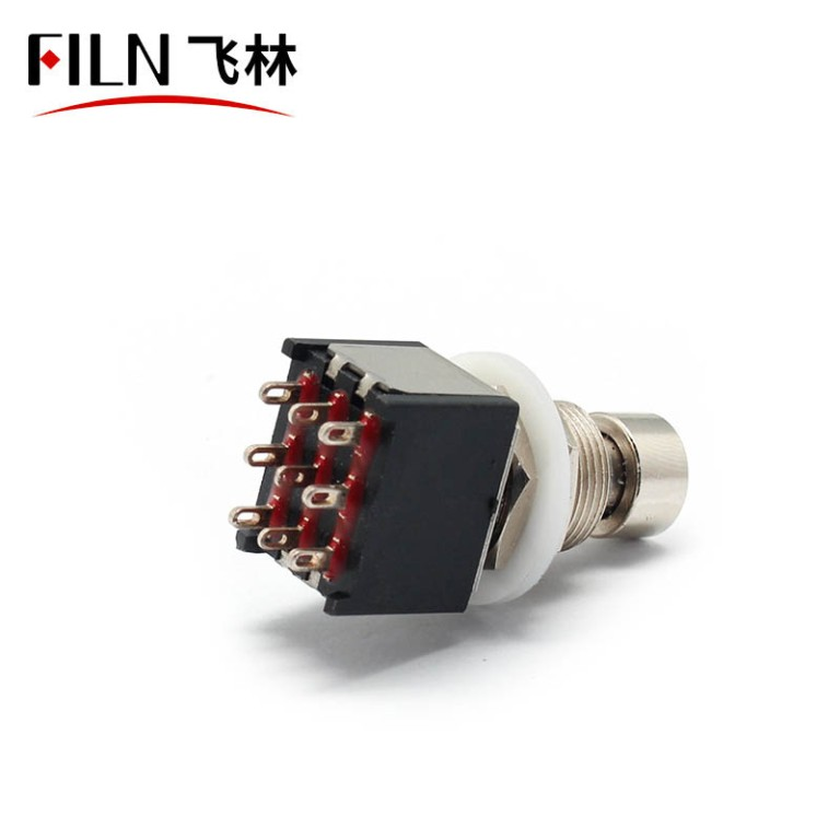 3PDT 9Pin Latching Foot Switch Small Guitar Switch