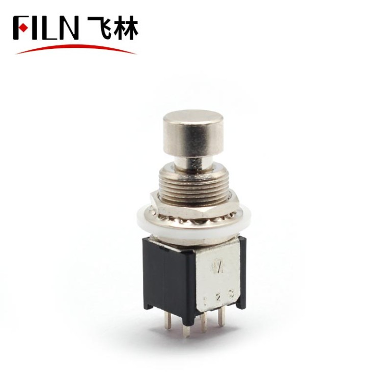 6pin 2PDT  Small Foot  Guitar PUSH BUTTON  Switch