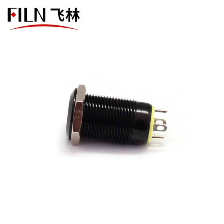12MM 12V Small Red Illuminated Latching Push Button Switch