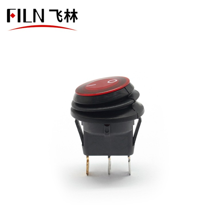 3PIN bule led on off ip67 12v 30A on off illuminated boat rocker switch panel