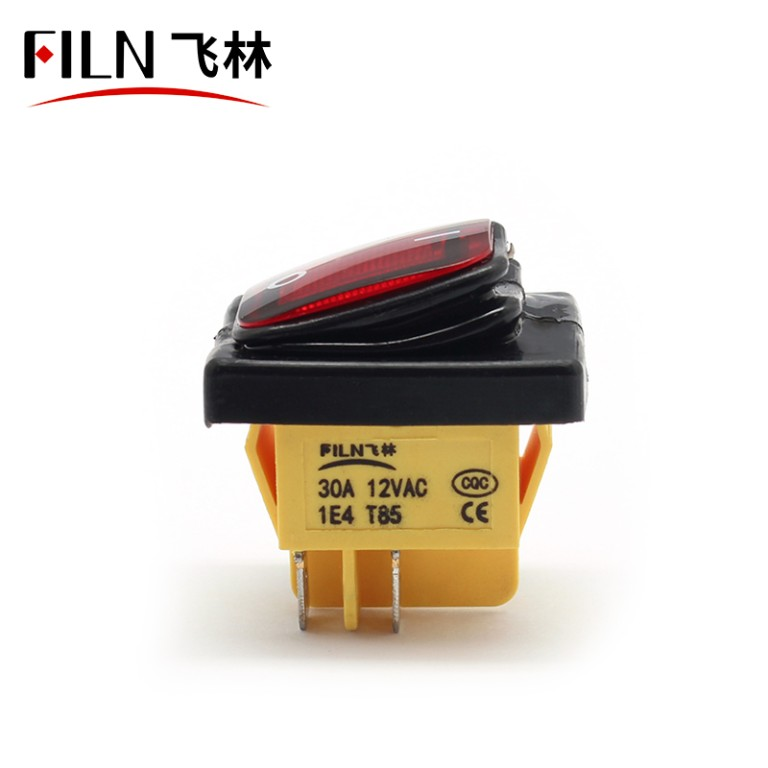 380v red 15A KCD4-201N 4PIN ip67 amazon hot sell rocker switch