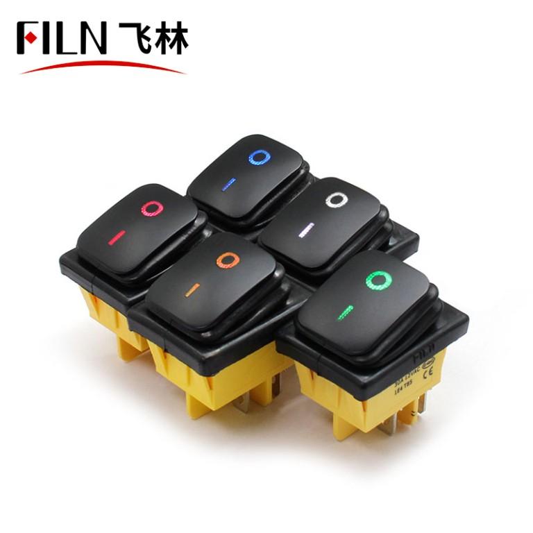 FILN Custom Symbol Spray Lacquer IP67 12V Rocker Switch