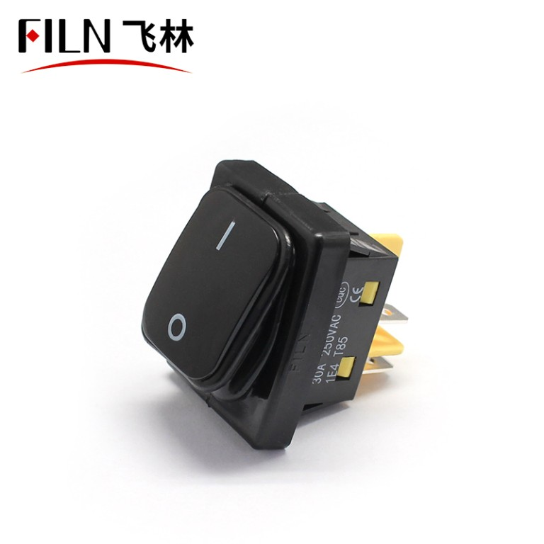 FILN black 30a kcd4 380V on off 4pins ip68 ship rocker switch