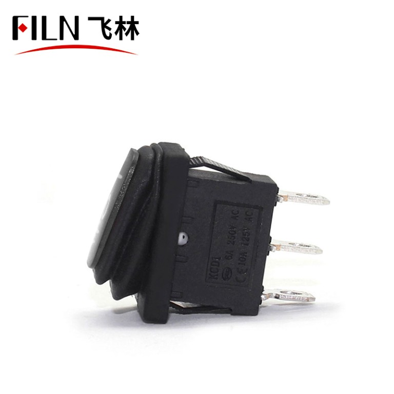 Double Rocker Switch 3pin ON-OFF-ON 6A 240V No lights