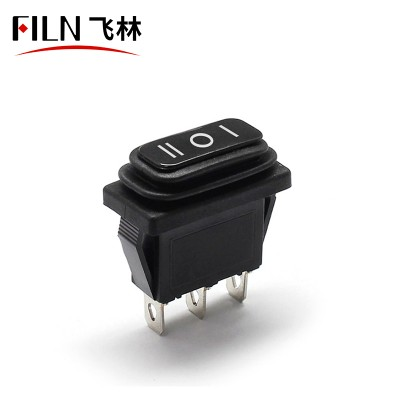10×28 KCD3-103 on-off-on Waterproof IP67 110V 48V Dual Rocker Switch