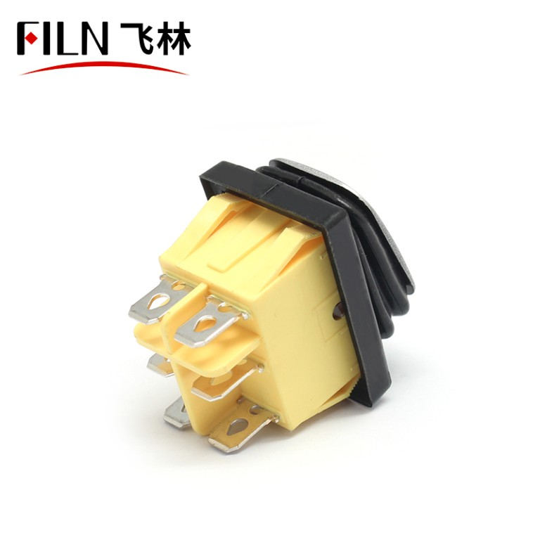 FILN Red Green 15A KCD4 380V 6PIN IP68 3 Position Rocker Switch
