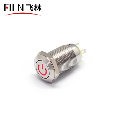 12MM Green LED On-Off 120V Push Button Switch