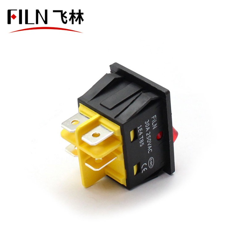 30A 250V UL Red LED Light Electric Welding Machine Boat Rocker Switch