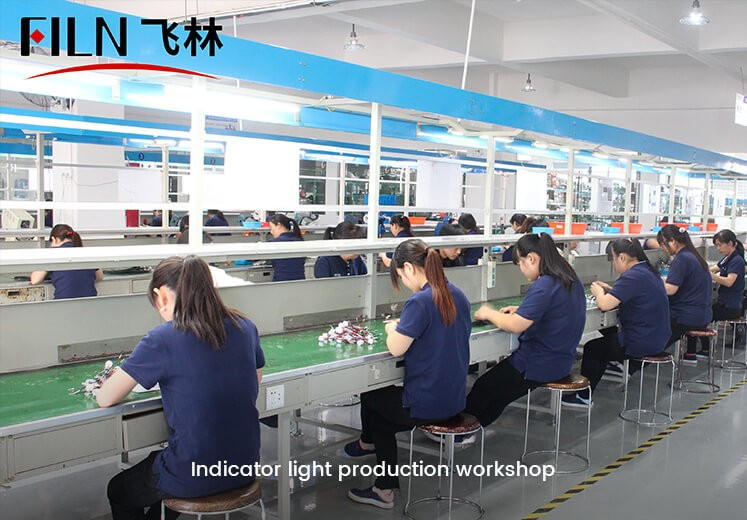 Indicator light production workshop