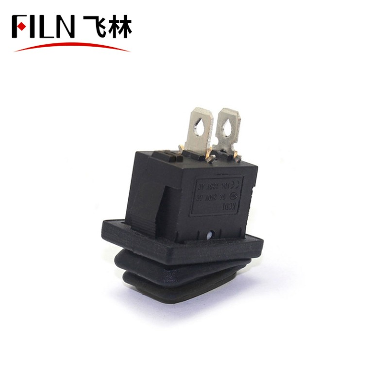 2pin kcd1-101 ON OFF ip67 balck 10A 250V momentary car ship rocker switch