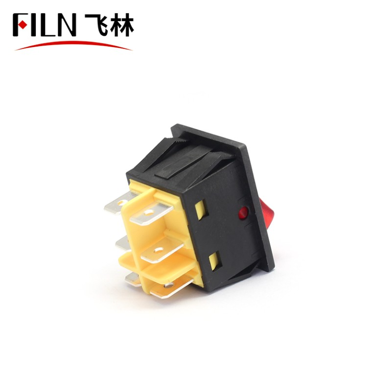 30A 110V UL WHITE LED LARGE CURENT ON OFF ON FILN ROCKER SWITCH