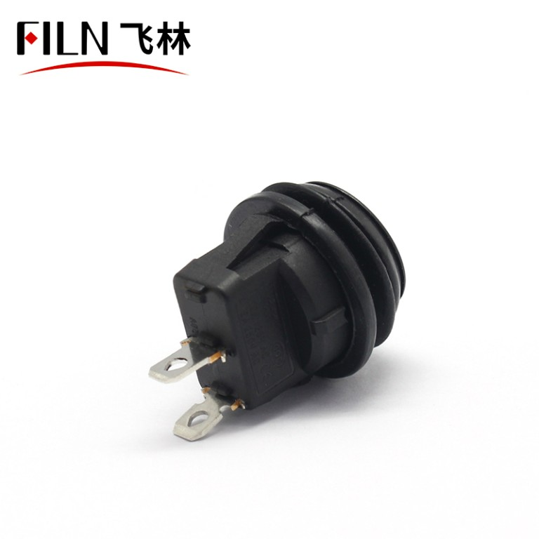 2PIN KCD1 ON OFF IP67 Balck 5A 250V Car Round Rocker Switch