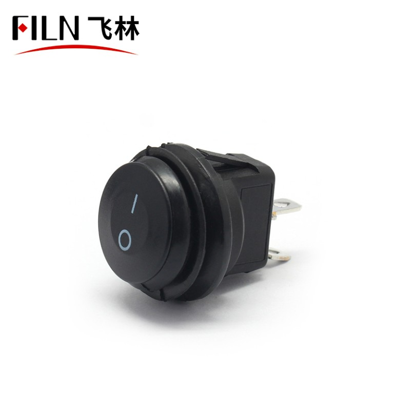 2PIN kcd1-105 ON OFF ip67 balck 5A 250V car round ship rocker switch