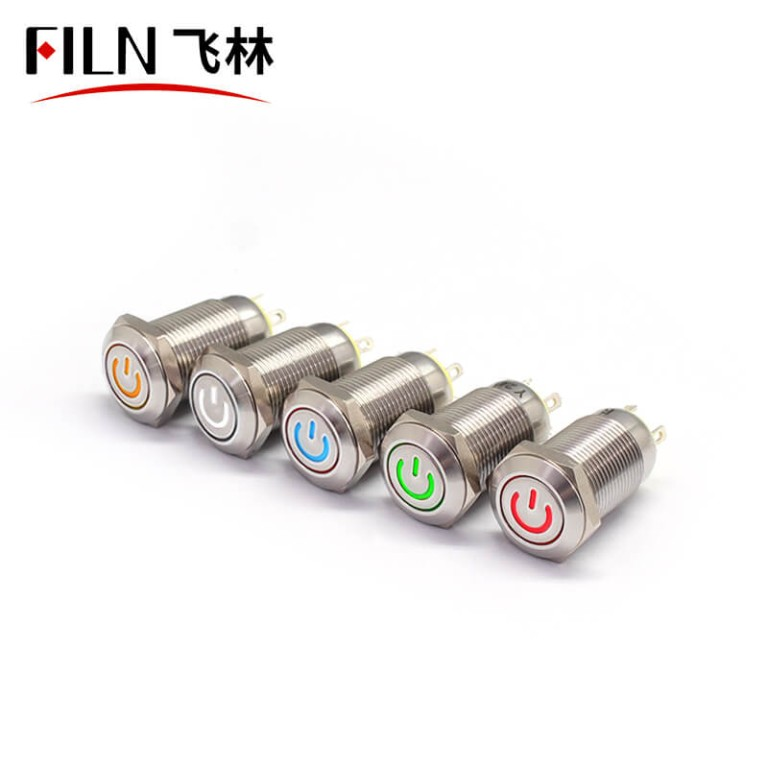 12MM Push Button Switch 6V Green LED on-off