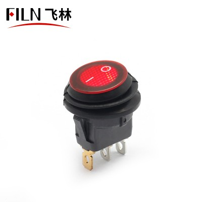 Red Rocker Switch 3PIN LED on off IP67 12V 30A on off Illuminated Boat Panel