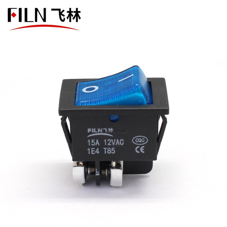 12V 250V Bule LED Screw Feet KCD4 Boat Rocker Switch