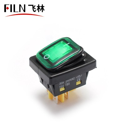 KCD4 30A UL illuminated on off 4pins ip68 boat rocker switch