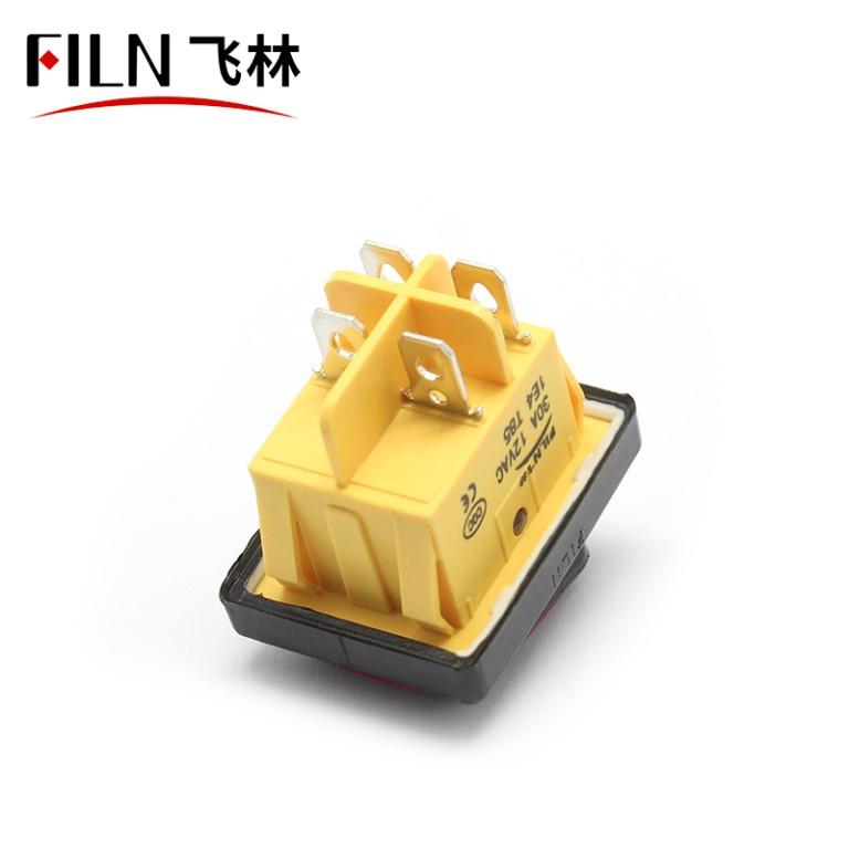 Rocker Type Switch 120V 20A Waterproof IP67 T85 CE