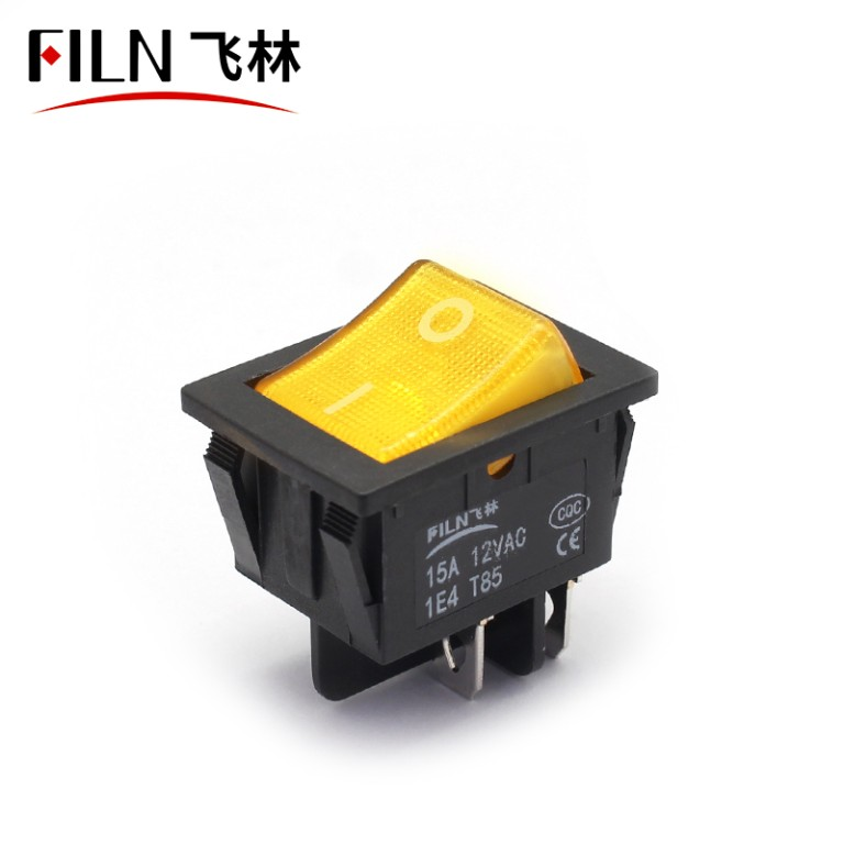 250V 15A 4 PIN Affordable LED Light Rocker Switch