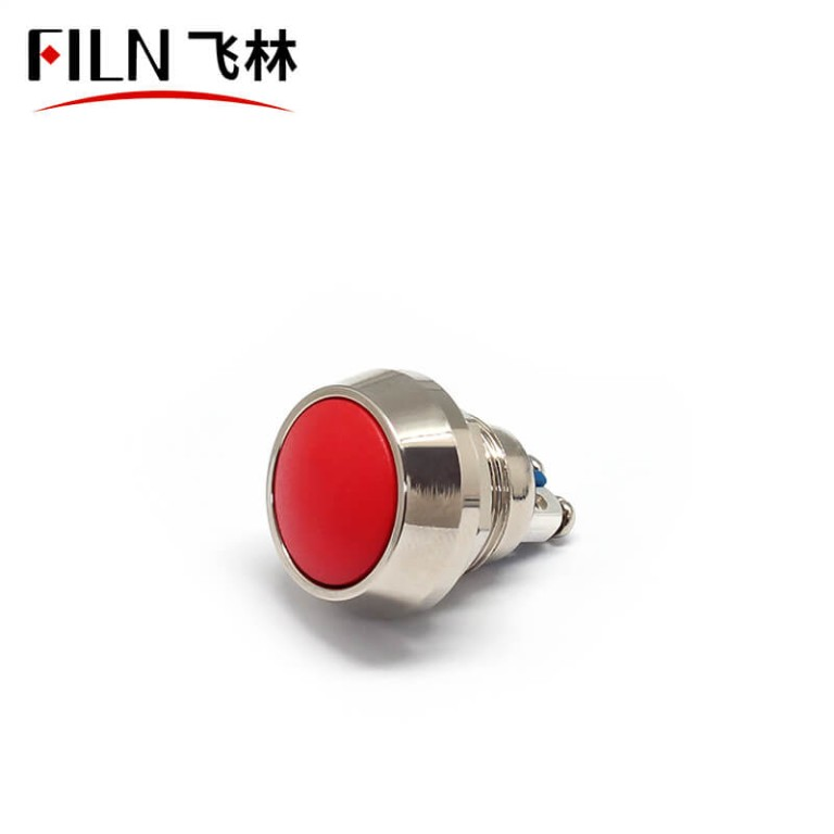 FILN red push button switch 2 Screw Terminals Momentary Metal Dome