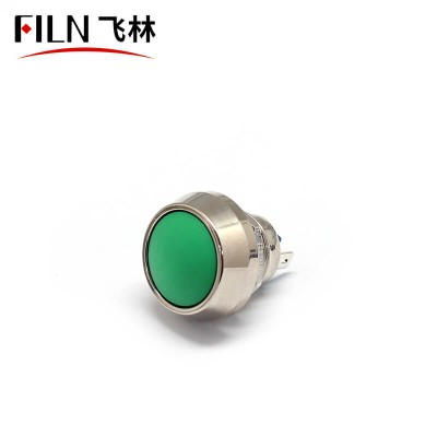 FILN 12MM Momentary Metal Round Vandal Resistant Push Button Switches