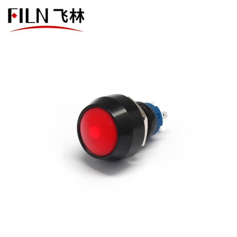 Push Button Switch 4PIN 12MM 12V 3A Red Momentary Latching Waterproof