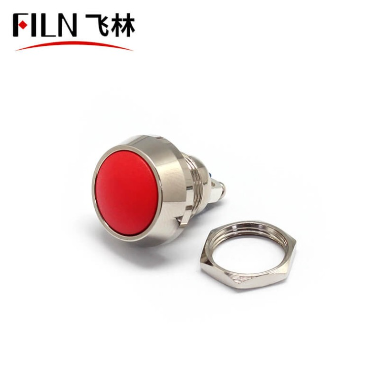 12MM FILN 2 Screw Terminals Momentary Metal Dome Push Button Switches