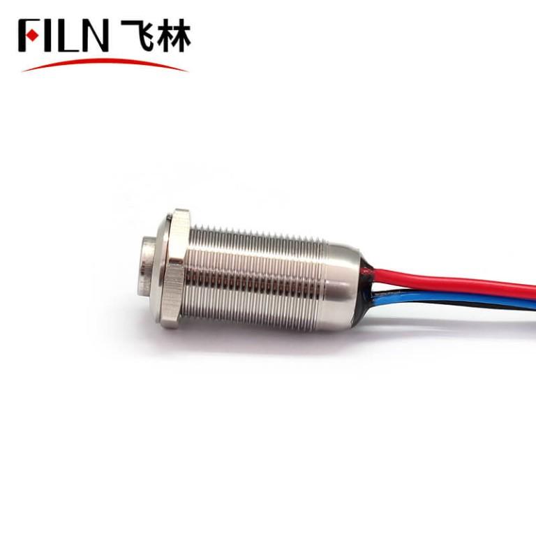 FILN 12MM Blue LED 220V  Underwater Push Button Switch