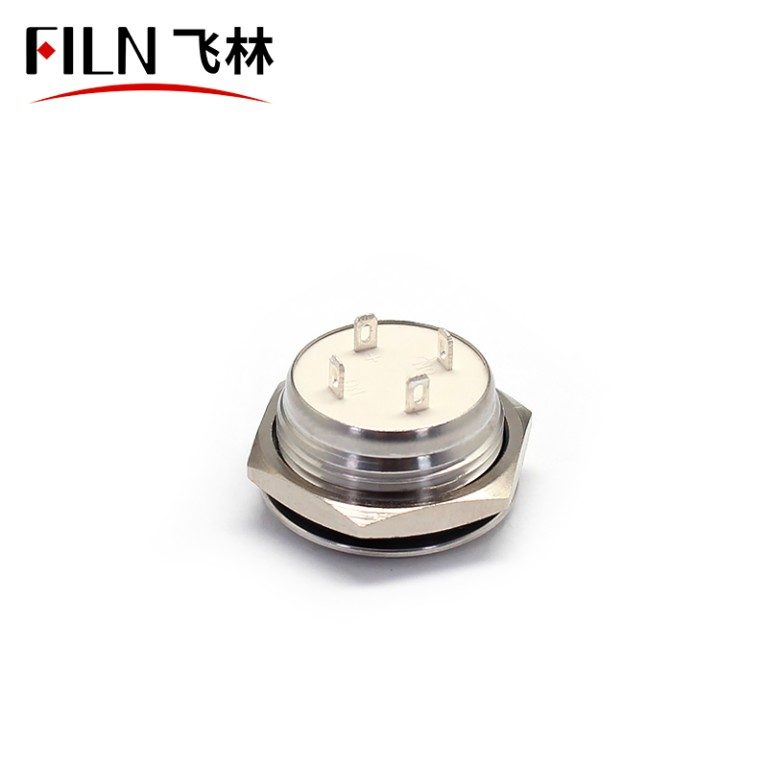 19MM Water Proof Computer Metal Contact Push Power Buttons With On Off 12V Small Push Button Switches