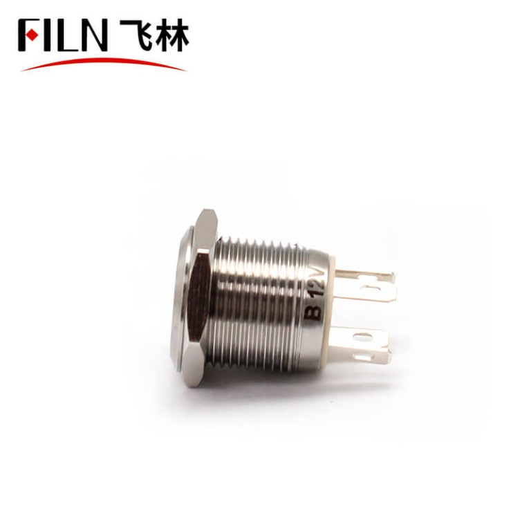 16MM 4PIN 220V 10A Waterproof Push Button Switch