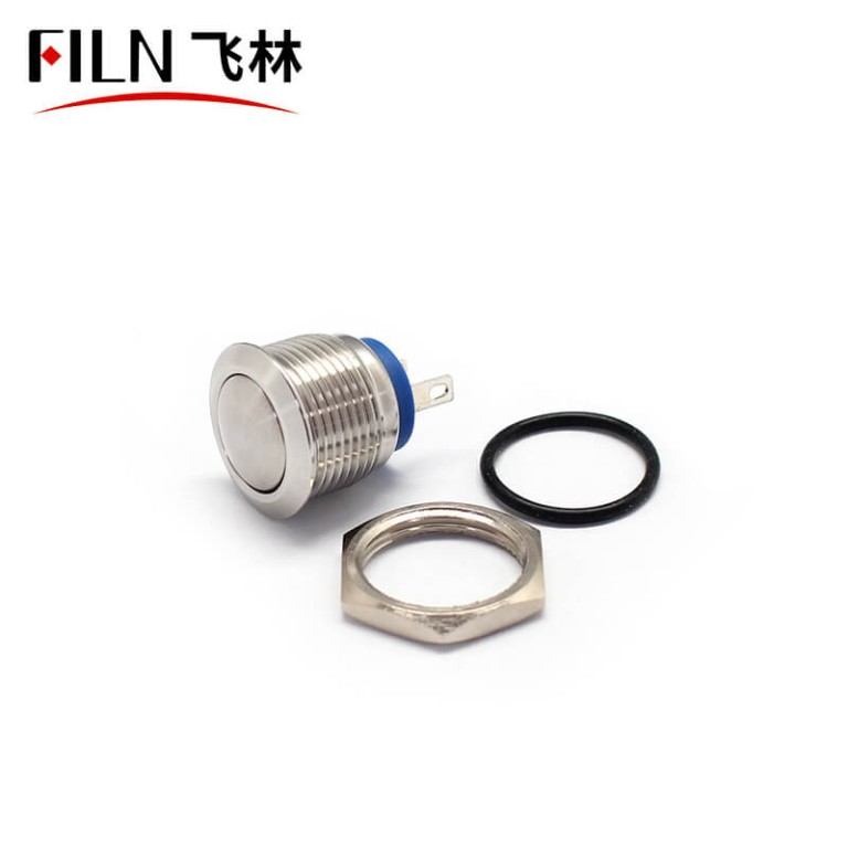 16MM Stainless 2P Ul METAL Momentary Push Button Switch Meaning