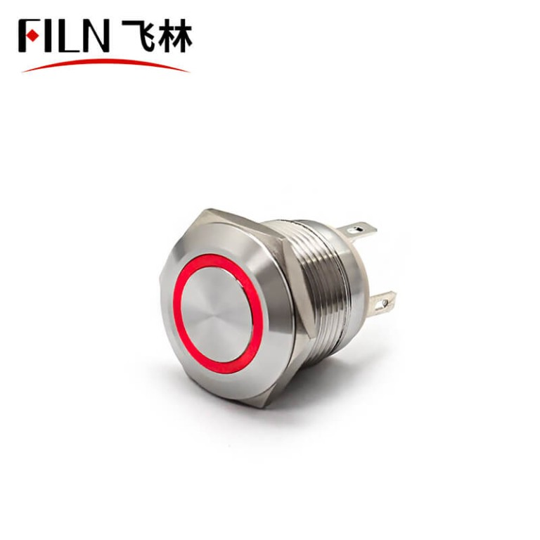 19MM 10A 250V Momentary Push Button Lamp Switch