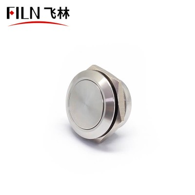 19MM New Short Size IP67 Touch Switch Metal Mini Push Button Switch