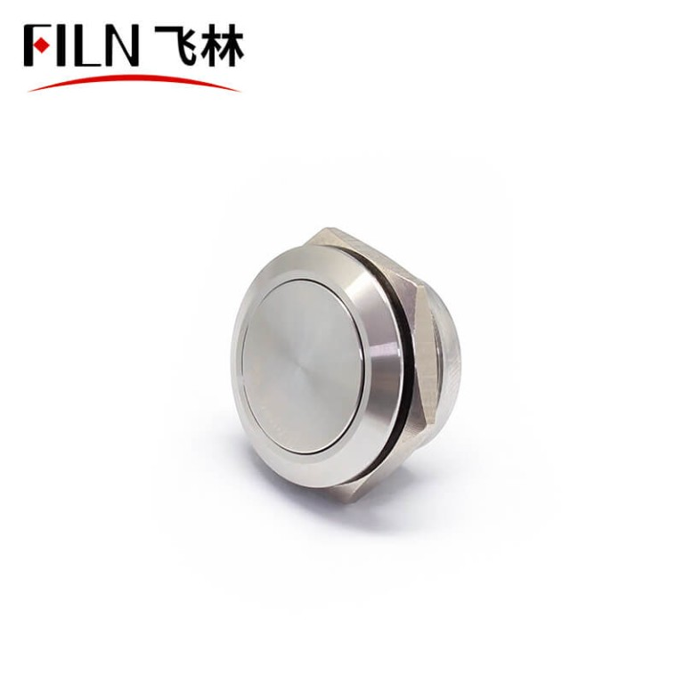 19MM New Short Size IP67 Touch Normally on Push Button Switch