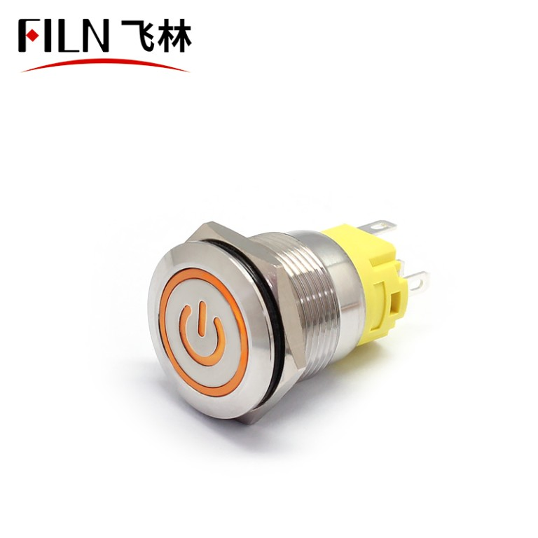19MM 3V White LED Latching Push Button on off Switch
