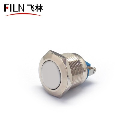 19MM 10A 110V Screw Feet Stainless Steel Push Button Switch