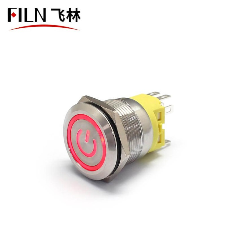 22MM 8PIN 110V LED Latching Automotive Push Button Switch