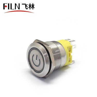 22MM 8 PIN 110V LED illuminated Latching Red Push Button Switch